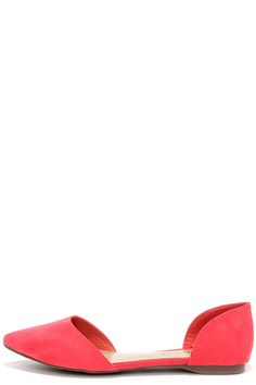 Two-Piece Suits Me Grapefruit Pink D'Orsay Flatsat Lulus.com!