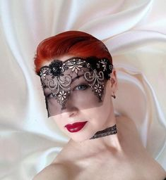 Lace Mask, Gothic Fashion, Sexy Lingerie, Glass Beads, Halloween Face Makeup, Bronze, Photoshoot, Moonlight, Costume