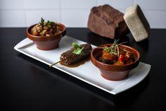Segundo plato. Cholent de carne (Tradicional de Shabat), Rosh Hashanah  Tzimmes (Tzimmes de año nuevo) y Keftas de cordero. Sefarad