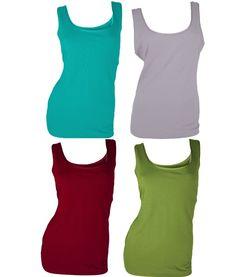 724f5ae24daa0c Ann Taylor Satin Trim Tank Top S Scoop Neck Sleeveless Shirt Red Green Pink  NEW