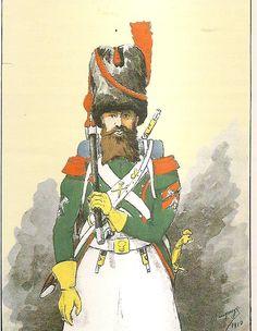 French; Regiment de Tour d'Auvergne, Sapper, Grande Tenue, 1810