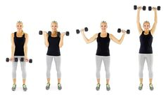 Arnold Press Move Targets: Biceps and shoulders