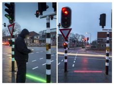 Bodegraven, a Danish town, is installing stoplights on the ground to alert texters from walking into traffic