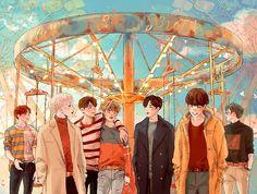 'BTS V – Singularity anime' Poster by hanavbara Bts Chibi, Bts Anime, Anime Meme, Anime Guys, Yoonmin, Foto Bts, Namjoon, Bts Jungkook, K Pop