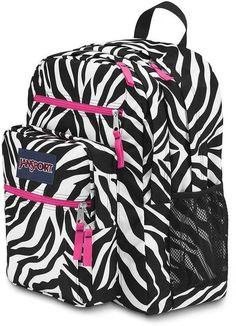 Jansport Backpacks For Girls | Big Student JanSport Zebra ...