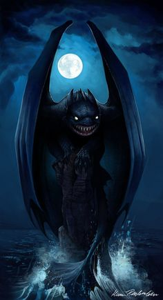 Night Fury - I think it's Toothless's long lost evil twin...
