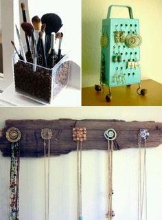 DIY - Jewelry & makeup organization