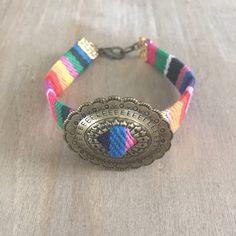Antique Gold Oval Concho Bracelet