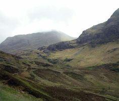 Glencoe Mountains scotland