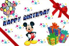 Happy Birthday Pictures Clip Art | Happy Birthday Mickey Mouse