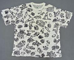 Ken Done Shirt Men Large Vintage Ken Done White T Shirt Full Print T