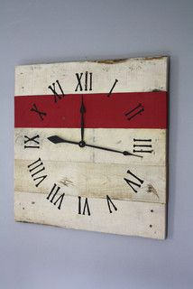 Large Pallet Wood Wall Clock (26 x 26) - contemporary - clocks - baltimore - by Terrafirma79 Designs