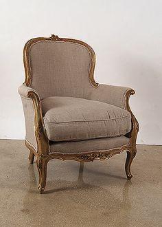 Pair of Italian Louis XV style Bergeres