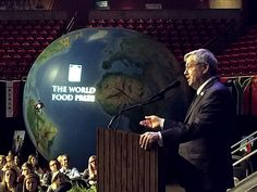 Iowa Gov. Terry Branstad speaks to a crowd of more than 300 students during the World Food Prize Iowa Youth Institute event Monday at Iowa State University. Photo by Austin Harrington/Ames Tribune http://www.amestrib.com/news/20170424/branstad-reynolds-promote-stem-education-at-world-food-prize-event