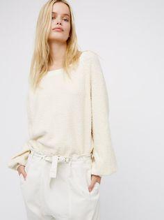 Frida Aasen || FP Found My Friend Soft & Stretchy Crewneck Sweatshirt (Cream)