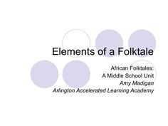 "PowerPoint ""Elements of a Folktales"""