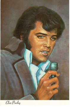 Painting of Elvis Presley.