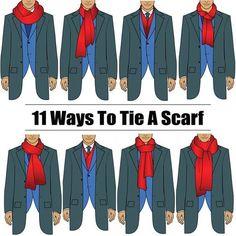 Infographie : 11 Façons de Nouer une Echarpe Homme