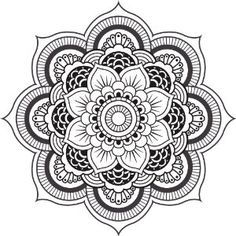 mandala black and white - Google Search