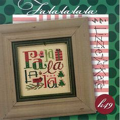 Lizzie Kate - FaLaLaLaLa -  Cross Stitch Pattern Chart -  Kit
