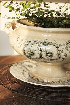 Oooh...this is so pretty. Tempts me to pull my grandmother's antique tureen out of the basement where it's just collecting dust.