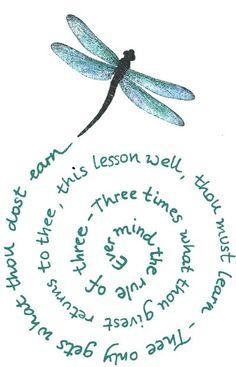 Dragonfly & poem