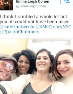 Cast on Set Justin, Kelly and Caterina