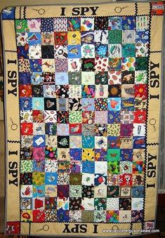 i spy quilts for children - Bing images Quilt Baby, I Spy Quilt, Boy Quilts, Quilting Projects, Quilting Designs, Sewing Projects, Quilting Ideas, Sewing Ideas, Fabric Crafts
