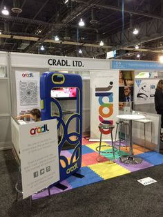 The cradl. booth at #CES2015