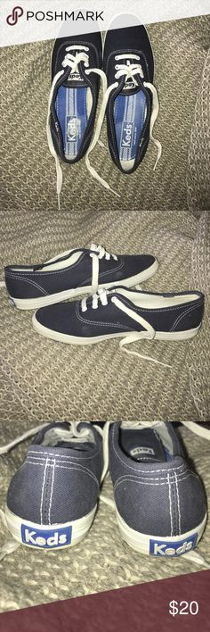 Navy Blue Keds Champion Originals These are so cute, they are just too small on me! They are in practically new condition, with just a few minor signs of wear on the inside and potentially on the outside. Worn maybe once or twice. Comes from a smoke free home! Keds Shoes Sneakers