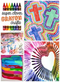 Crayon arts and crafts for kids