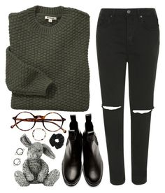 """Sacha"" by sulk-y ❤ liked on Polyvore featuring Barbour, Topshop, Comme des Garçons, Royal Selangor, Stefanie Sheehan Jewelry and Retrò"