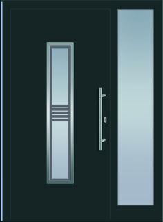 Sternstunden Eingangstüre RHEA 1 - Aluminiumtüre mit Seitenteil außen in grau. Besuchen Sie unseren Schauraum in Gramastetten - dort haben wir einige unserer Haustürmodelle ausgestellt. #Fensterschmidinger #doors #türen #alu #gramastetten #oberösterreich