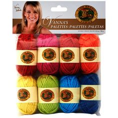 The sale of the week is almost Ended. Better hurry up and stock up on this Lion Brand Yarn! Vanna's+Palette+Bonbons+Yarn+8/Pkg-Happy