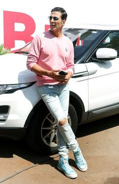 AkshayKumar snapped rocking pink in style as he begins with Sooryavanshi promotions Management Company, Bollywood, Pink, Style, Swag, Pink Hair, Roses, Outfits