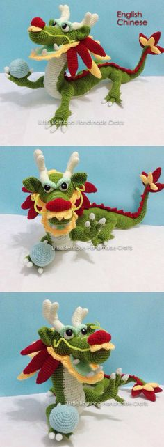 Chinese Dragon Crochet Pattern Printable #ad #crochet #crocheting #crochetpattern #crochetncreate #pattern #patternsforcrochet #chinese #chinesedragon #dragon #printable