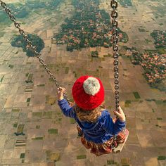 This is EXACTLY what it feels like skydiving after the parachute opens | Surreal Photo Manipulations by Caras Ionut