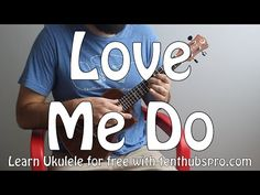 Love Me Do - Beatles - Beginner Song Ukulele Tutorial Ukulele Songs Popular, Easy Ukulele Songs, Guitar Songs, Acoustic Guitar Strap, Acoustic Guitar Lessons, Acoustic Guitars, Guitar Outline, Love Me Do, Guitar Girl