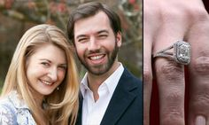 ♥♥ Sweethearts Spam ♥♥ Hereditary Grand Duke Guillaume and Hereditary Grand Duchess Stéphanie of Luxembourg Royal Engagement Rings, Celebrity Engagement Rings, Celebrity Couples, Adele, Royal Rings, Grand Duc, How To Be Graceful, Royal Crowns, Royal Weddings