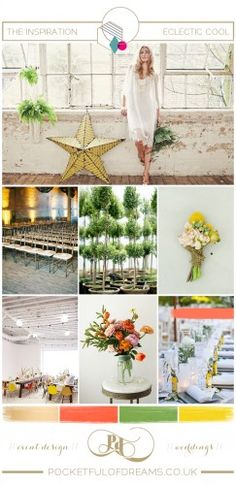 Bridal Inspiration Board #65 ~ Eclectic Cool
