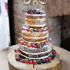Cake cake cake. LOVE ❤️ by @buttercreamanddreams Link in bio. Image by @johastingsphoto  #wedding #cake #weddingcake #nakedcake #victoriasponge #weddingdetails #weddingdecor #rusticwedding #weddinginspiration #instawedding #weddingblog #ukwedding