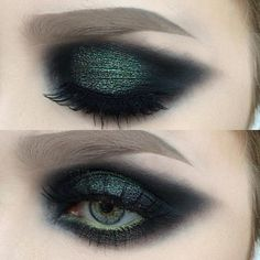 emerald green smokey eye