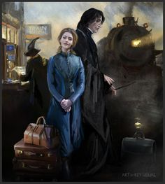by Key Usual Snape And Hermione, Professor Severus Snape, Harry Potter Severus Snape, Severus Rogue, Harry Potter Fan Art, Harry Potter Fandom, Harry Potter Characters, Hermione Granger, Fantastic Beasts
