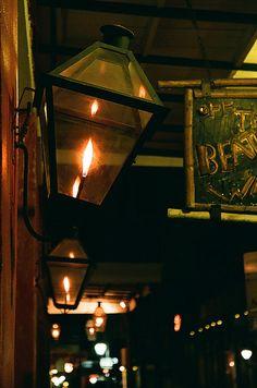 New Orleans gas lanterns. Magical.