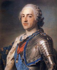 Luigi XV; Maurice Quentin de la Tour; 1748; ritratto a pastello; Musée du Louvre, Parigi.