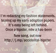 The Accidental Hipster - a song
