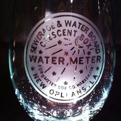 Handmade Watermeter Wine Glass $20.00   Check out this item in my Etsy shop https://www.etsy.com/listing/192064658/new-orleans-water-meter-etched-wine