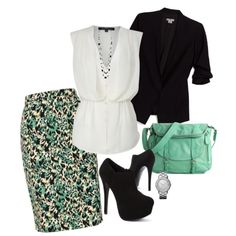 """""""Printed At the Office"""" by misstinamaria on Polyvore"""