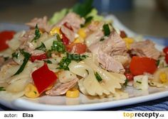 Petin těstovinový salát s tuňákem recept - TopRecepty.cz Potato Salad, Food And Drink, Healthy Recipes, Treats, Chicken, Cooking, Ethnic Recipes, Cake, Fitness