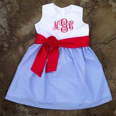 Custom Boutique Monogrammed Baby and Girls beach by SewChristi, $62.00